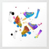Skates & Sneakers Art Print