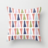PAINT TRIANGLES Throw Pillow
