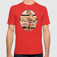 Glitch Pin-Up Redux: Gwe… Mens Fitted Tee Red SMALL