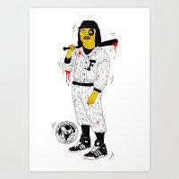 Baseball Furies Art Print