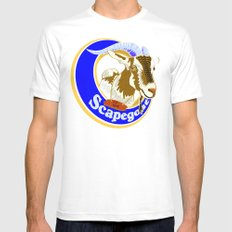 Scapegoat for Hire MEDIUM Mens Fitted Tee White