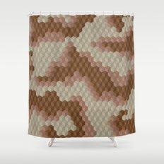 CUBOUFLAGE DESERT Shower Curtain