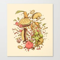 Food Fight Canvas Print