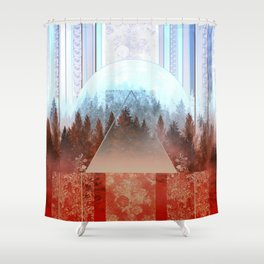Shower Curtain - abstract floral forest 2 - Bekim ART