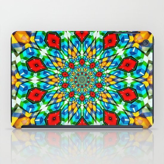 Folded Fabric Flower iPad Case