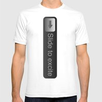 Slide... Mens Fitted Tee White SMALL