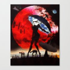 blue sky sultry stormtrooper Canvas Print