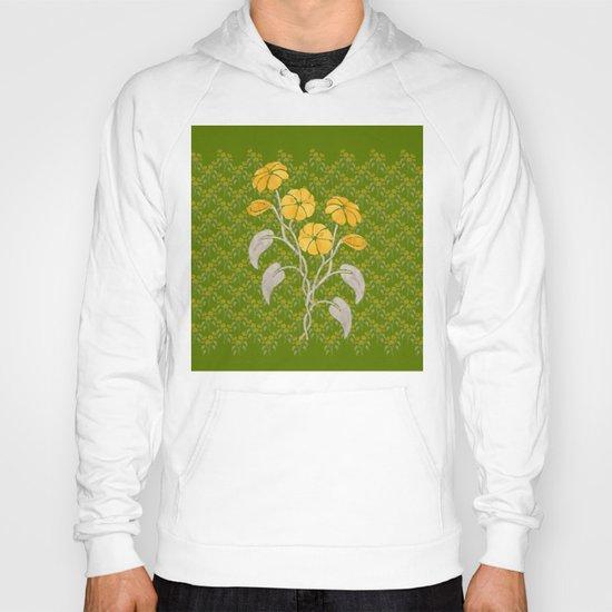Flowers Green Pattern Hoody