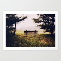 Thinking Bench... Art Print
