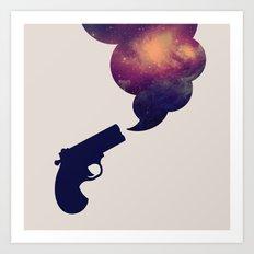 Cloudy Gun Art Print