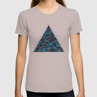 Triangulation (Inverted) Womens Fitted Tee Cinder SMALL
