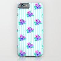 Hibiscus and Stripes iPhone 6 Slim Case