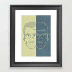 Breaking Bad - Faces - Double Walter White Framed Art Print