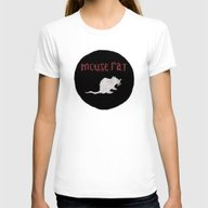 Mouse Rat Womens Fitted Tee White MEDIUM