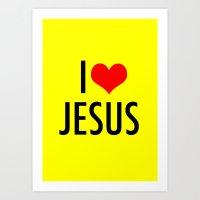 I LOVE JESUS Art Print