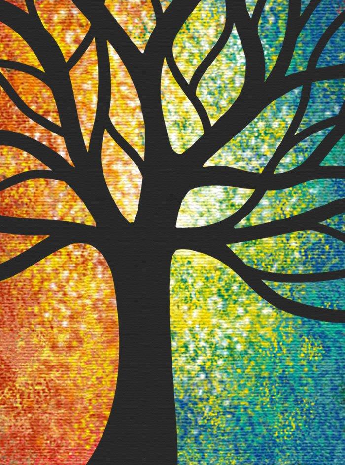 Stencil Tree Canvas Art Print By Shannonposedenti Society6