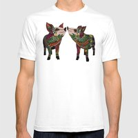 pig love amber Mens Fitted Tee White SMALL