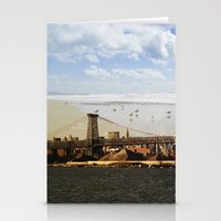A HELICOPTER IN HER SKY, A SEAGULL ON HIS BRIDGE Stationery Cards