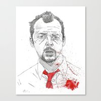 Shaun Of The Dead Canvas Print