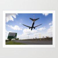 British Airways Landing … Art Print