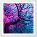 purple tree XII Art Print