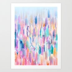 Candy Feathers  Art Print