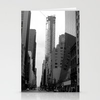 manhattan street Stationery Cards