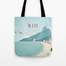 Vintage Rio Travel Poster Tote Bag