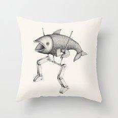 'Evolution I' Throw Pillow