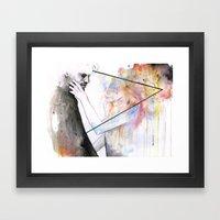 Two Different Lights Framed Art Print