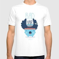 Bad Hair Day Mens Fitted Tee White SMALL