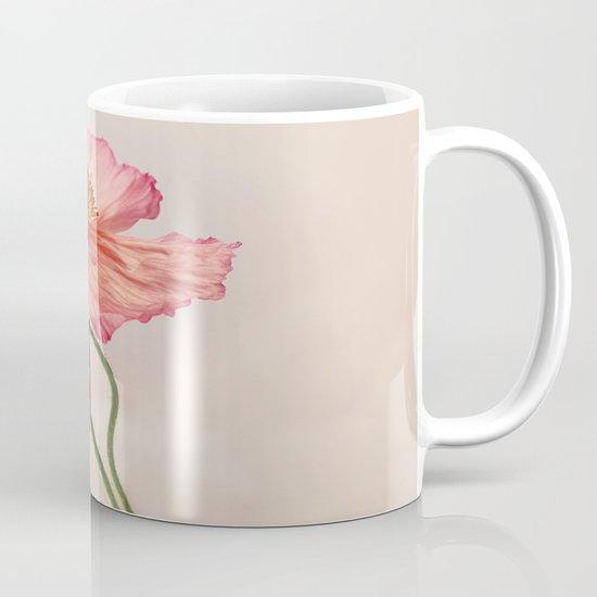 Like Light through Silk - peach / pink translucent poppy floral Mug