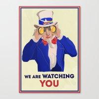 NSA Prism Canvas Print