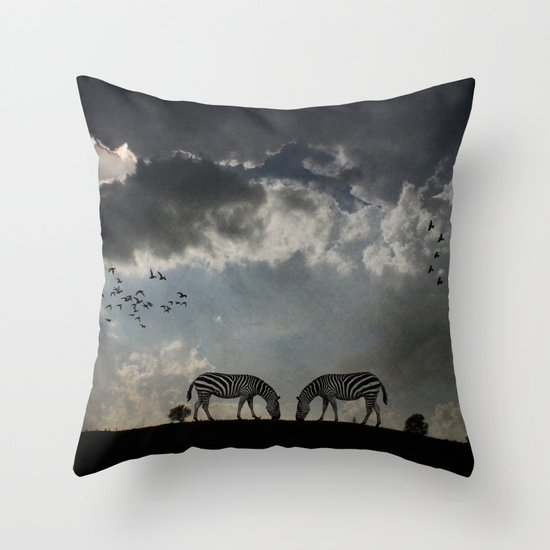 On  the Hill Throw Pillow