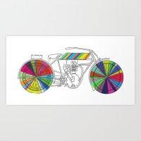 Rainbow Cycle Art Print