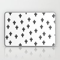 Catctus Black On White Laptop & iPad Skin