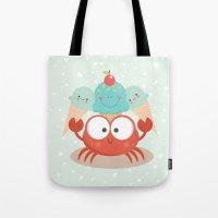 Happy crab Tote Bag