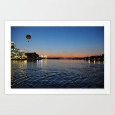 Downtown Disney Sunset I Art Print