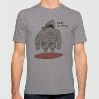 Surf Shark Mens Fitted Tee Athletic Grey SMALL