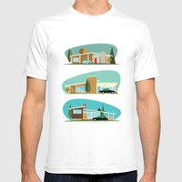 Hollywood Bungalows Mens Fitted Tee White SMALL