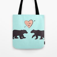Polar Bear Love Tote Bag