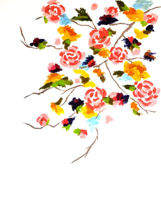 Floral Painting Art Print