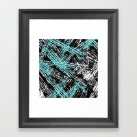 Desert Tracks Teal Framed Art Print