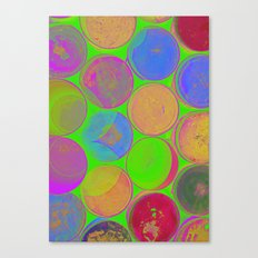 The Lie is a Round Truth. Green. Canvas Print
