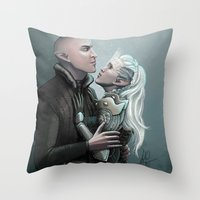 Dragon Age - Solas and Inqusitor Throw Pillow