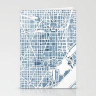 Stationery Cards featuring Washington DC Blueprint … by Anne E. McGraw