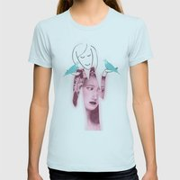 Balance Womens Fitted Tee Light Blue SMALL