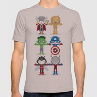 THE ORIGINAL AVENGER'S ROBOTICS Mens Fitted Tee Cinder SMALL