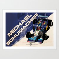 Michael Schumacher - F1 … Art Print
