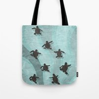 Loggerhead sea turtle hatchlings Tote Bag